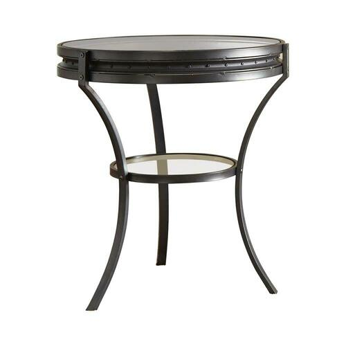 Industrial Black Side Table