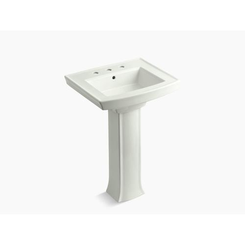 "Dune Pedestal Bathroom Sink With 8"" Widespread Faucet Holes"