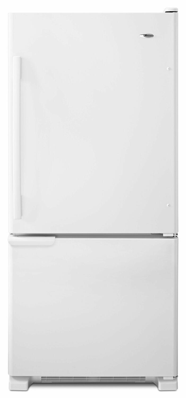 Amana29-Inch Wide Bottom-Freezer Refrigerator With Garden Fresh Crisper Bins -- 18 Cu. Ft. Capacity - White