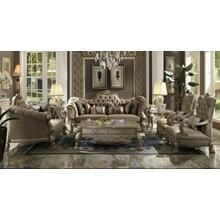 ACME Dresden Sofa w/7 Pillows - 52090 - Bone Velvet & Gold Patina