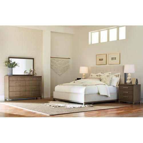 High Line-Vietnam Complete Upholstered Bed, CA King 6/0