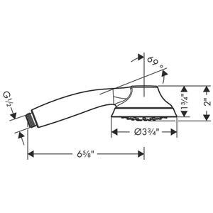 Matte Black Handshower 95 1-Jet, 1.75 GPM
