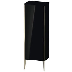 Semi-tall Cabinet Floorstanding, Black High Gloss (lacquer)
