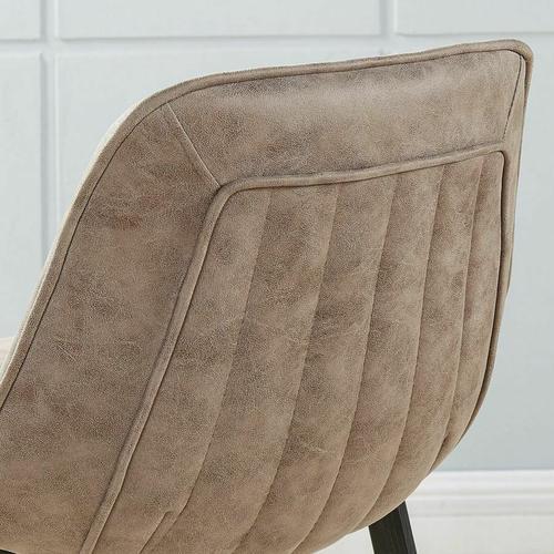 Worldwide Homefurnishings - Buren 26'' Counter Stool, set of 2 in Vintage Brown