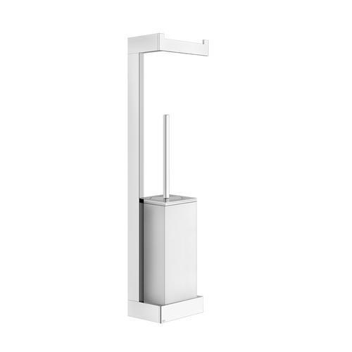 Gessi - Wall-mounted column with paper roll holder and white brush holder