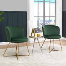 Alexa Velvet Upholstered Dining Chair, Green