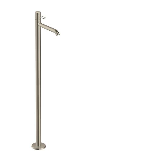 Brushed Nickel Single lever basin mixer floor-standing with loop handle without waste set