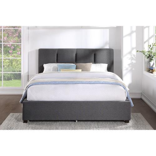 Homelegance - Queen Platform Bed with Storage Footboard