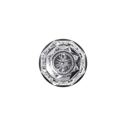 Custom Alexandria Non-Turning Glass Knob with Alden Trim - Aged Bronze