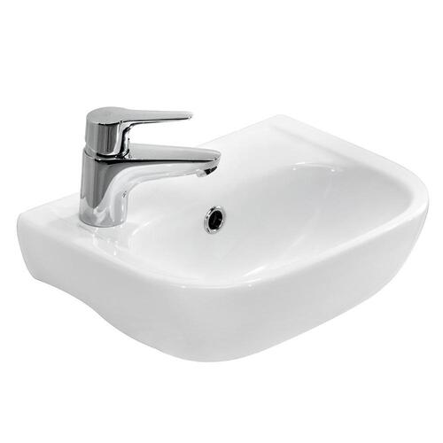 Caroline 380 Wall-Hung Basin - Single-Hole Left