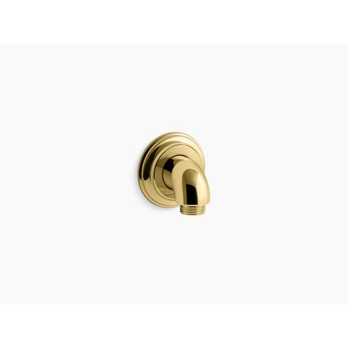 Vibrant Polished Brass Wall-mount Supply Elbow With Check Valve