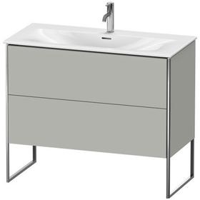 Vanity Unit Floorstanding, Concrete Gray Matte (decor)