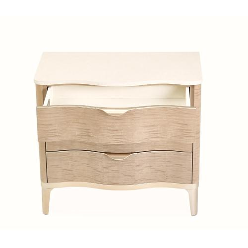 Nightstand, 3 Drawer Blush