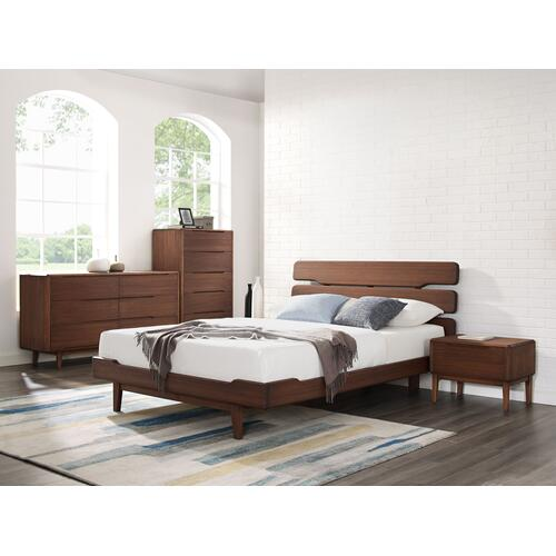 Product Image - Currant Six Drawer Double Dresser, Oiled Walnut
