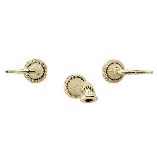 Phylrich - RIBBON & REED Wall Lavatory Set Lever Handles WL137 - Satin Gold