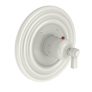 """Biscuit 3/4"""" Round Thermostatic Trim Plate with Handle"""