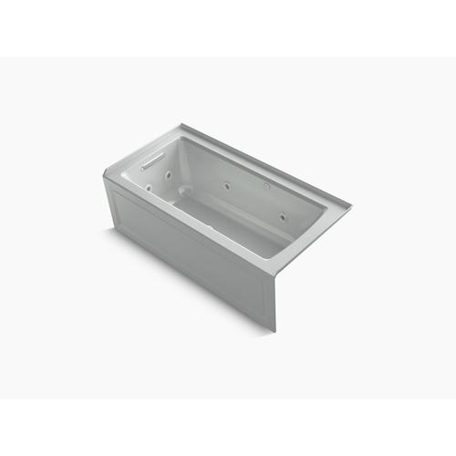 """Ice Grey 60"""" X 30"""" Integral Apron Whirlpool + Heated Bubblemassage Air Bath With Left-hand Drain"""