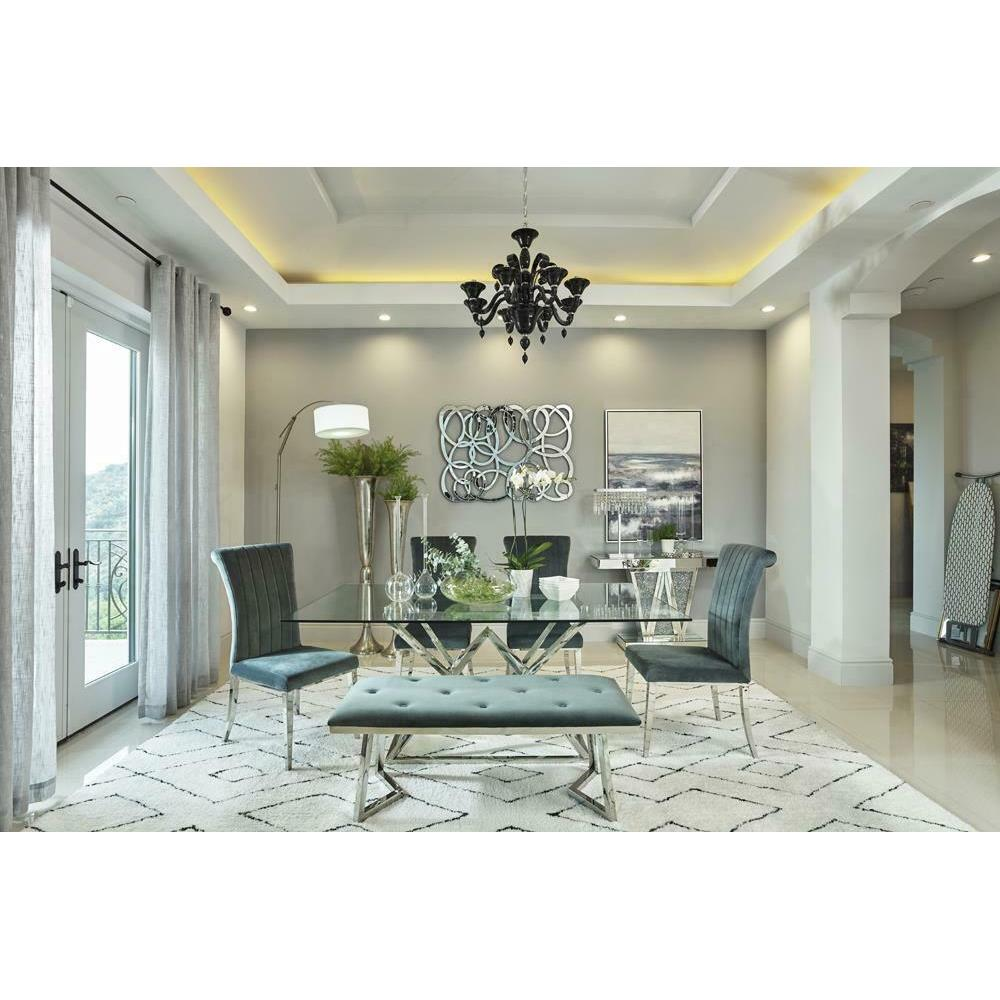 Rect Glass Dining Table