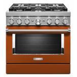KitchenaidKitchenAid(R) 36'' Smart Commercial-Style Dual Fuel Range with 6 Burners - Scorched Orange