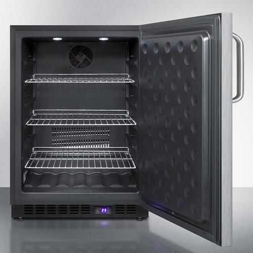 Frost-free Outdoor All-freezer In Complete Stainless Steel, W/digital Thermostat, LED Lighting, Towel Bar Handle, and Lock; Built-in or Freestanding