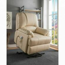 ACME Ixora Recliner w/Power Lift & Massage - 59286 - Beige PU