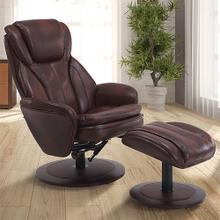 Norway Recliner & Ottoman in Whisky Air Leather