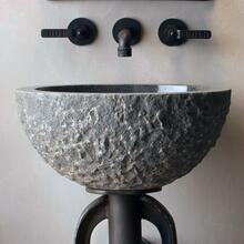 Oval Sink Blue Gray Granite