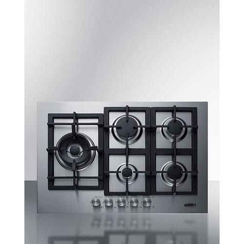 """30"""" Wide 5-burner Gas Cooktop In Stainless Steel"""