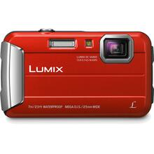 See Details - LUMIX DMC-TS25 Active Lifestyle Tough Camera - Red
