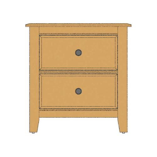 Loft Night Stand - 2 Drawers