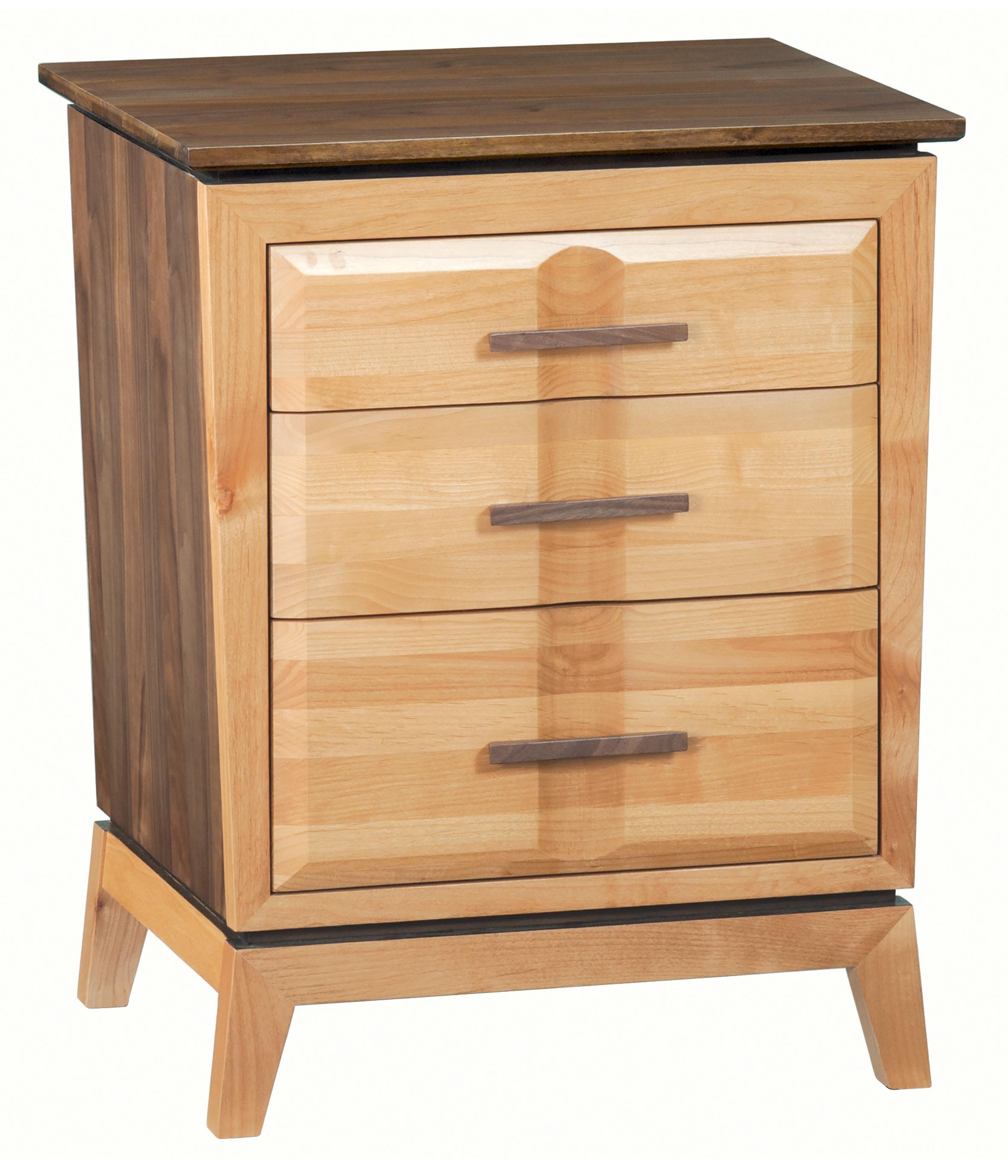Whittier WoodDuet 3-Drawer Addison Nightstand