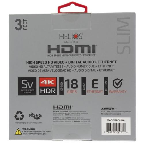 Metra Home Theater - High Speed HDMI® Cable (3 feet)