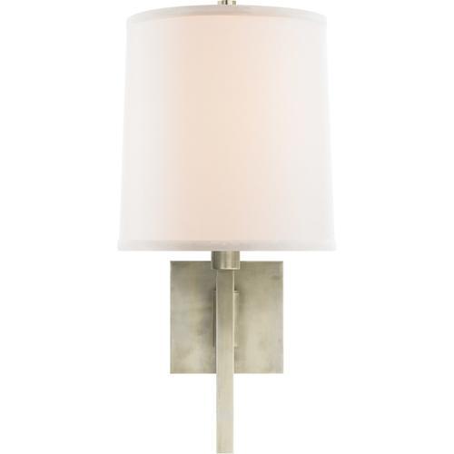 Barbara Barry Aspect 11 inch 75 watt Pewter Finish Swing-Arm Wall Light