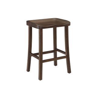See Details - Tulip Bar Height Stool, Black Walnut, (Set of 2)