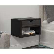 See Details - Deluxe One Drawer Wall Mount Nightstand
