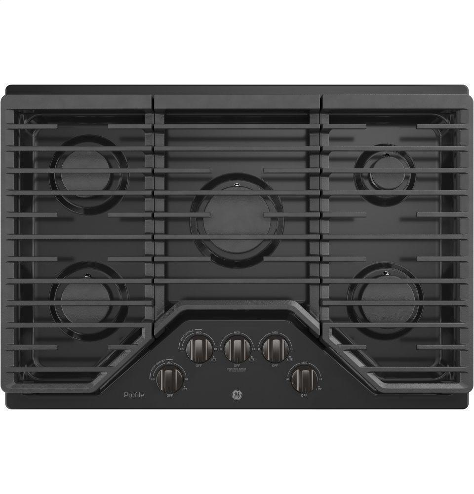"GE Profile30"" Built-In Gas Cooktop With 5 Burners And Optional Extra-Large Cast Iron Griddle"