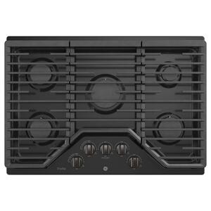 """GE Profile30"""" Built-In Gas Cooktop with 5 Burners and an Optional Extra-Large Cast Iron Griddle"""