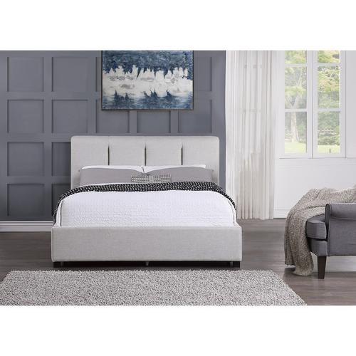 Queen Platform Bed with Storage Drawer