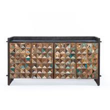 """See Details - Rio 62"""" Carved Teak Wood Sideboard"""