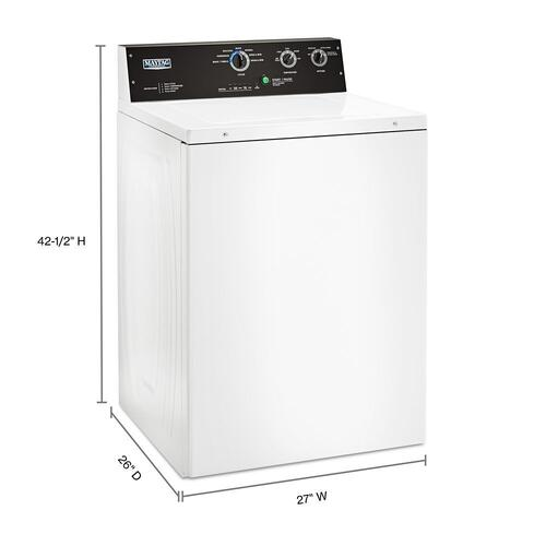 Maytag - 3.5 cu. ft. Commercial-Grade Residential Agitator Washer