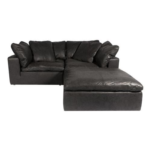Moe's Home Collection - Clay Nook Modular Sectional Nubuck Leather Black