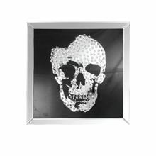 ACME Nevina Wall Art, Mirrored & Faux Crystal Skull - 97315