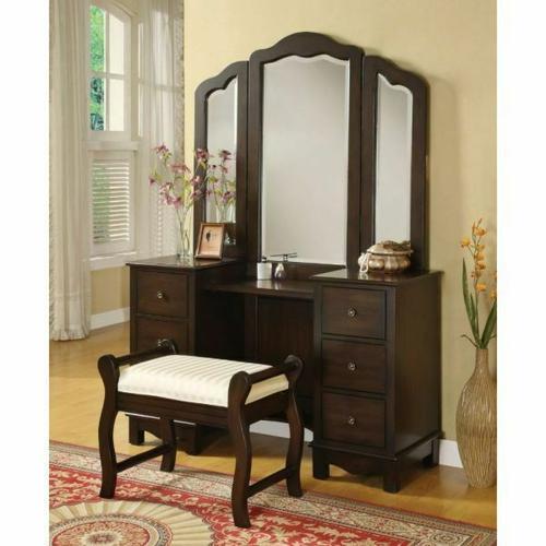 ACME Annapolis Vanity Desk & Stool - 06552 - Espresso