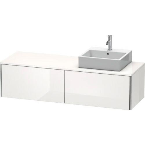 Vanity Unit For Console Wall-mounted, White High Gloss (decor)