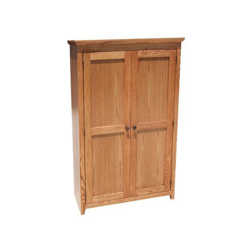"Shaker Oak 36"" Full Door Bookcase"
