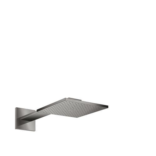 Polished Black Chrome Overhead shower 250/250 2jet with shower arm
