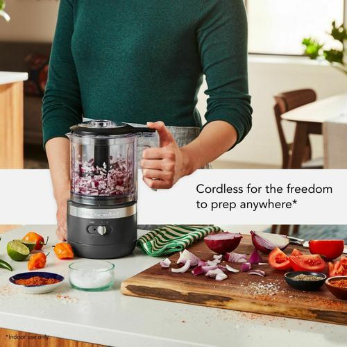 KitchenAid - Cordless 5 Cup Food Chopper - Matte Charcoal Grey