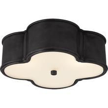 View Product - Alexa Hampton Basil 3 Light 17 inch Gun Metal Flush Mount Ceiling Light