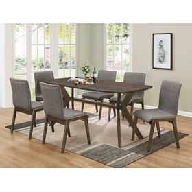 Mcbride Retro Warm Brown Dining Table