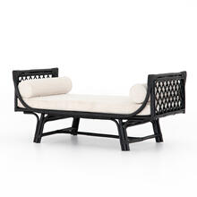 Ebony Rattan Finish Marina Chaise